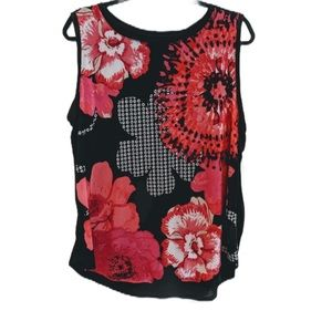 4/20$ NWT floral sleeveless top